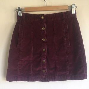 Urban Outfitters BDG burgundy corduroy skirt